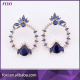 Simple Belle Hot Sale CZ Boucles d'oreilles plaquées or
