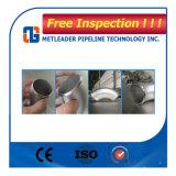 ASME B16.9 SS304 316 90度の継ぎ目が無いステンレス鋼の肘の管
