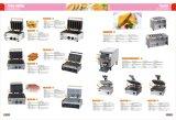軽食装置のビスケットのパン屋シャキッとした機械花のLollyのワッフル機械