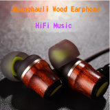 Hi-Fi estéreo trenzada de graves profundos en la oreja los auriculares de madera para el iPhone