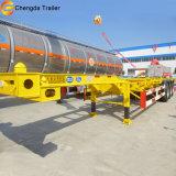 3つの車軸骨組み容器のトラックのトレーラー、実用的なトレーラー