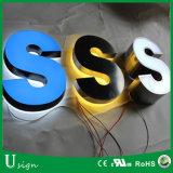 3D LED al aire libre que hace publicidad de la carta de canal (insignia)