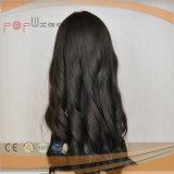 아름다운 최고 긴 까만 사람의 모발 가발 (PPG-l-06527)