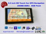 """新しい5.0 """"新しいGPSの操縦士のマップ、MP3プレーヤーとの車携帯用GPSの運行、Bluetoothのヘッドセット、駐車背面図のカメラAVのTmc GPSの追跡者システム受信機、"""