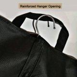 Sacchetto di indumento impaccante del vestito respirabile pieghevole nero di corsa con le maniglie