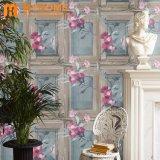 Papier de mur de papier neuf moderne de Wallcovering de modèle floral de Rose 3D
