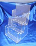En acrylique transparent personnalisé Tier marchandiseur Présentoir