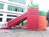 巨大なドラゴン子供および大人のための膨脹可能で移動可能な水公園水おもちゃ水スライド