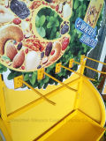 슈퍼마켓 상점을%s 주문을 받아서 만들어진 철 격판덮개 Nuts 선반 식사 진열대