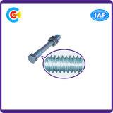 DIN/ANSI/BS/JIS kolen-staal/de Hexagonale Hoofd Twee Reeksen Van roestvrij staal Elektronische Schroeven voor Buiding/Spoorweg
