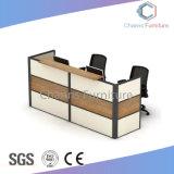 대중적인 까만 알루미늄 똑바른 모양 사무실 책상 수신 테이블 (CAS-RD31401)