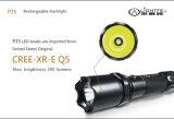 Ce, FCC, torcia elettrica di ricerca impermeabile ricaricabile del USB LED dell'alluminio aerospaziale di approvazione di RoHS