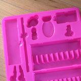 Cassetto di plastica dentellare su ordinazione per l'imballaggio della cancelleria