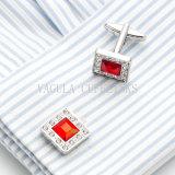 Manchetknopen 720 van de Manier van het Bergkristal van het Kristal van Vagual Rode Vierkante