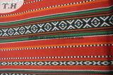 Cubierta roja Sadu Sofá tela con revestimiento negro