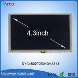 """Pantalla TFT en color de 4,3"""" 480x272 puntos Pantalla LCD de pantalla táctil de LCM Syc480272b043V8843 con IC RA8875"""