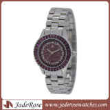 Un style classique de regarder la mode montre à quartz watch en acier inoxydable