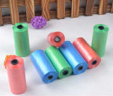Bolso de basura biodegradable plástico disponible del PE del bolso de basura en rodillo