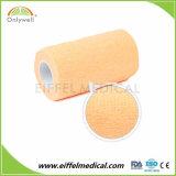Fasciatura coesiva elastica autoadesiva non tessuta del pronto soccorso