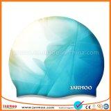 快適なスポーツのカスタムシリコーンの物質的な水泳帽