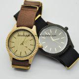 Relógios de pulso de madeira da face dos melhores Gents análogos de quartzo do projeto simples da venda