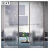 Vidro geado divisória gravado ácido da porta do chuveiro do escritório da decoração