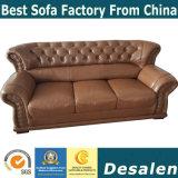 Precio al por mayor de la fábrica de muebles Hotel New Classic sofá de cuero (619)