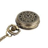 De ronde Horloges van het Patroon van het Spinneweb van de Vorm Holle met de Halsband van de Ketting