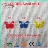 Envío gratis a 44mm Verious Style surtido de colores colcha de acero de la cabeza de la mariposa de plástico Pasador recto de coser