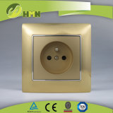 Ce/TUV/BV에 의하여 증명되는 유럽 기준 금속 아연 1Gang 금 프랑스인 소켓