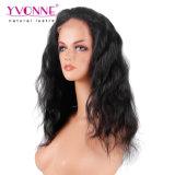 Peruca brasileira do cabelo humano da parte dianteira do laço da onda do corpo do cabelo do Virgin da densidade por atacado da peruca 180%