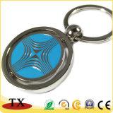 Recuerdos forma redonda de girar la llave de metal de claves de la cadena para la promoción
