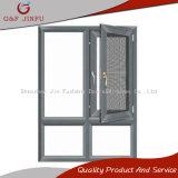 Guichet en aluminium de tissu pour rideaux de Chaleur-Isolation d'enduit de pouvoir avec l'écran d'insecte
