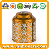 Envase redondo del estaño del té del rectángulo del té del metal del envasado de alimentos