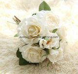 Têtes de luxe du type 5 de palais/fleur artificielle en soie de décoration Rose de bouquet Wedding le bouquet crème artificiel de Rose
