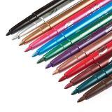 12 Farben-PROfrauen-Kosmetik-Funkeln-Augen-Schatten-Federwasserdichter Eyeliner-Lippenzwischenlage-Schimmer-Verfassungs-Installationssatz