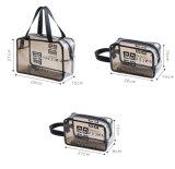 3 Packs Sala levar a bolsa de Higiene Pessoal Zipper Mala de viagem de vinil