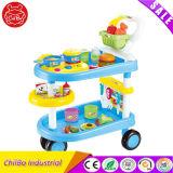 Nuevo juguete de la cocina del juego del coche de los alimentos de preparación rápida del cocinero de la historieta de la manera