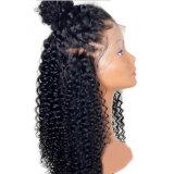 Dlme 형식 특별한 자연적인 까만 꼬부라진 합성 머리 가발