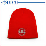 Red Hat Beanie Embroider Вязки с POM POM