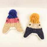 Kundenspezifischer Form Hight Qunlity Winter-Frauenbeanie-Hut mit dem kurzen Ohr