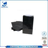 Imprimé personnalisé sac de papier noir brillant avec des poignées