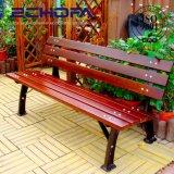 Haute qualité extérieure de style moderne en bois de lattes de bois Poly banc banc en bois massif