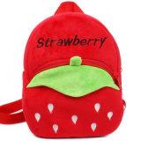 Morral lindo del niño del bolso de escuela de la felpa de la fresa del diseño