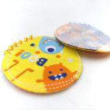 Ronde van het Etiket van de douane breide de Mooie Geweven Etiketten voor het Kledingstuk van Kinderen