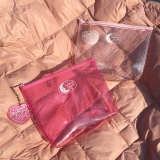 Klar angepasst Handtasche-transparenten wasserdichten Kosmetik-Beutel-Toilettenartikel bilden