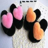 De stevige BinnenPantoffels van de Kleur voor Vrouwen/de Pantoffels van het Bont van de Winter van de Douane