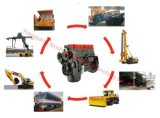 猫の幼虫の坑夫の掘削機、ローダー、クレーン、ブルドーザー、ペーバー、鉱山トラック、回転式掘削装置のための4つの打撃6btaa5.9-C150 Cumminsの産業ディーゼル機関