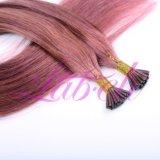 Remy Cheveux humains Straihght naturelles I-L'extension de cheveux humains de pointe