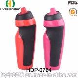 Бутылка воды спорта дешевого работающий вхолостую 600ml BPA пластичная (HDP-0764)